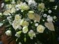Wieńce i wiązanki pogrzebowe, złocień, margaretka, róża, lilie,
